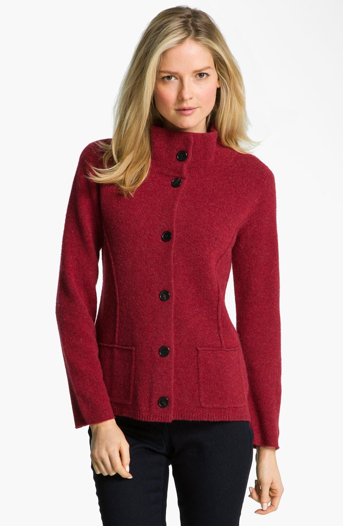 Main Image - Eileen Fisher Felted Merino Lambswool Jacket (Petite)