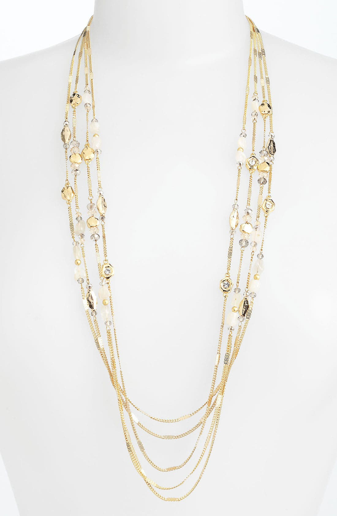 Alternate Image 1 Selected - Nordstrom 'Sand Dollar' Multistrand Station Necklace