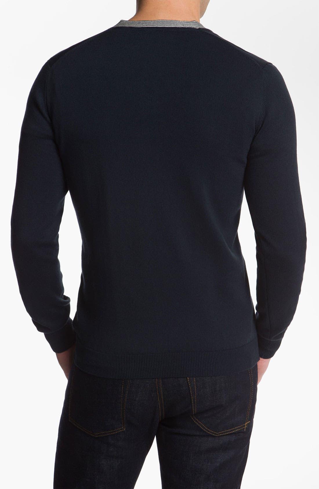Alternate Image 2  - Lacoste V-Neck Sweater