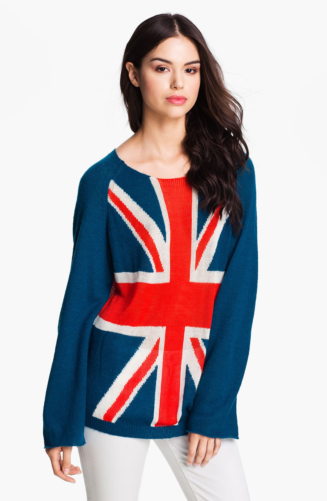 Alternate Image 1 Selected - Wildfox 'Save The Queen' Union Jack Sweater