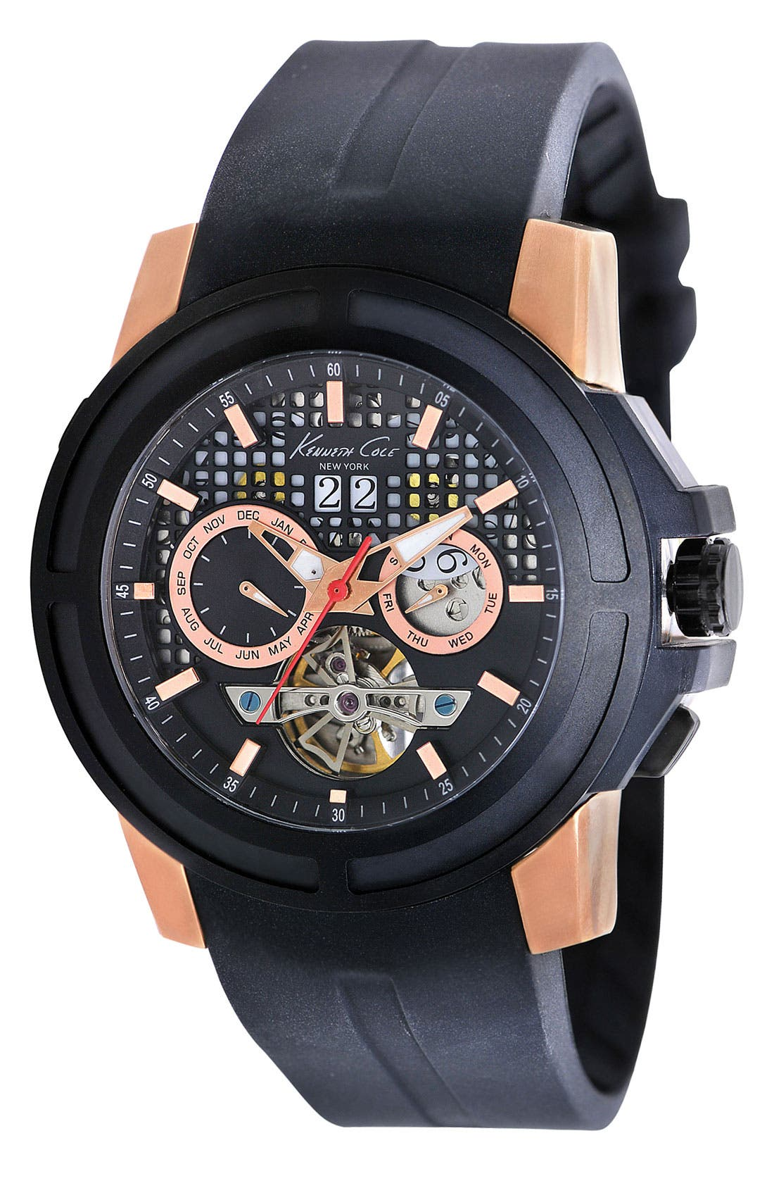 Alternate Image 1 Selected - Kenneth Cole New York 'Mohawk' Automatic Watch