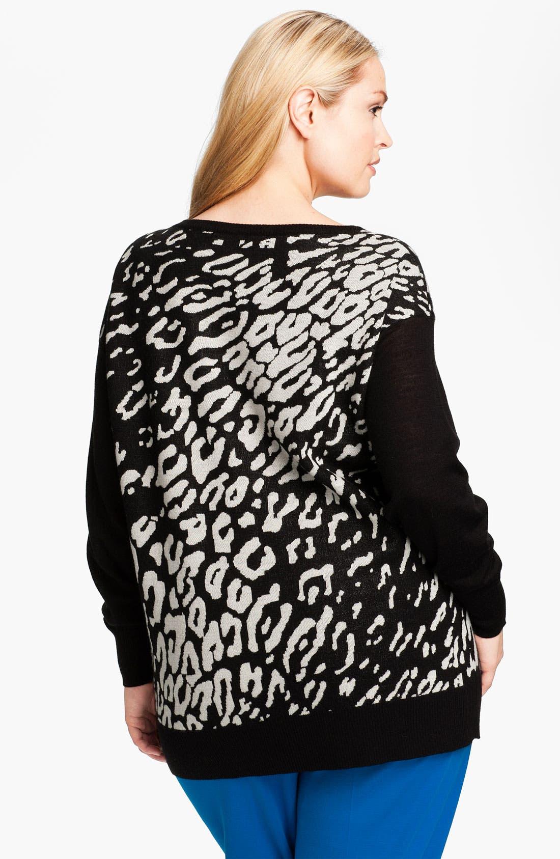 Alternate Image 2  - DKNYC Ballet Neck Sweater (Plus)