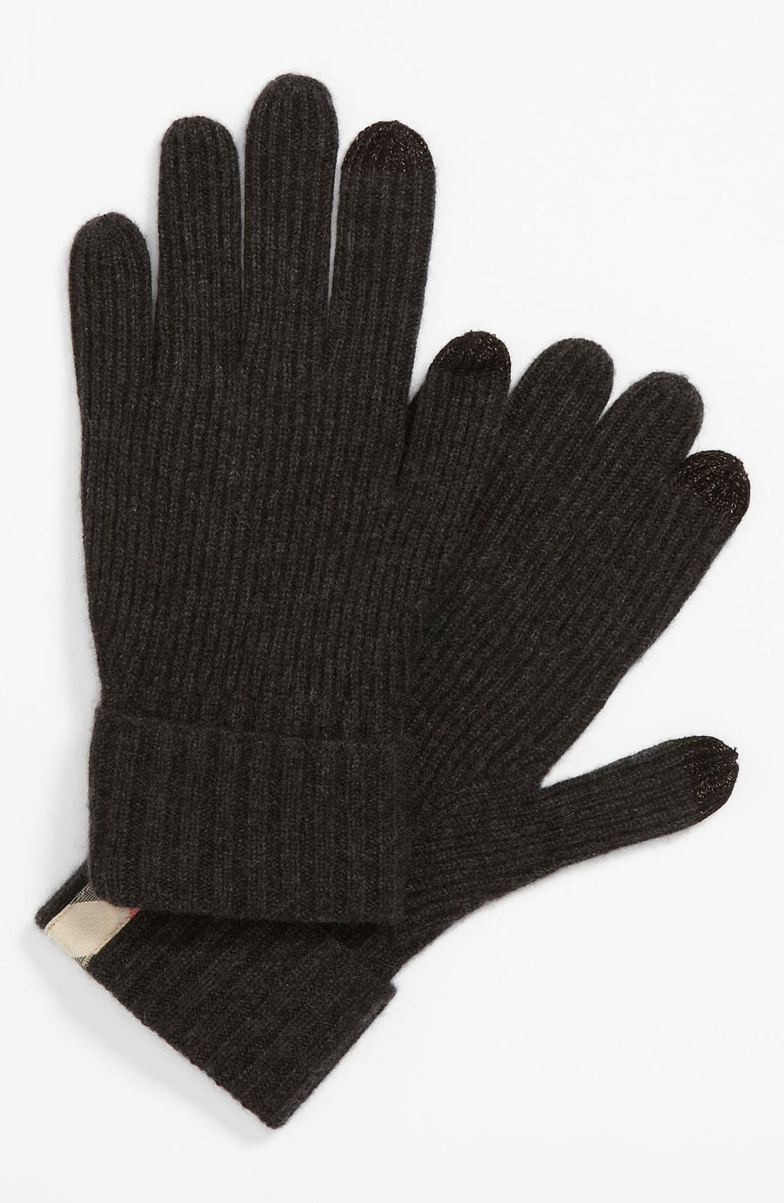 Main Image - Burberry Touch Screen Cashmere Gloves