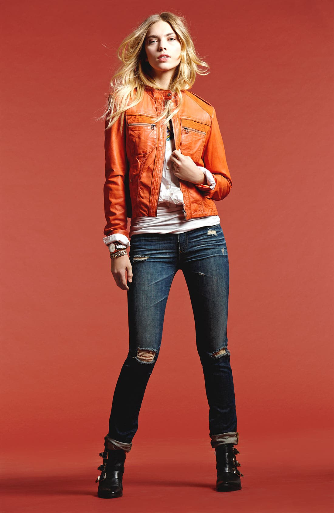Alternate Image 1 Selected - Bernardo Jacket, Caslon® Shirt, Stem Tank & AG Jeans
