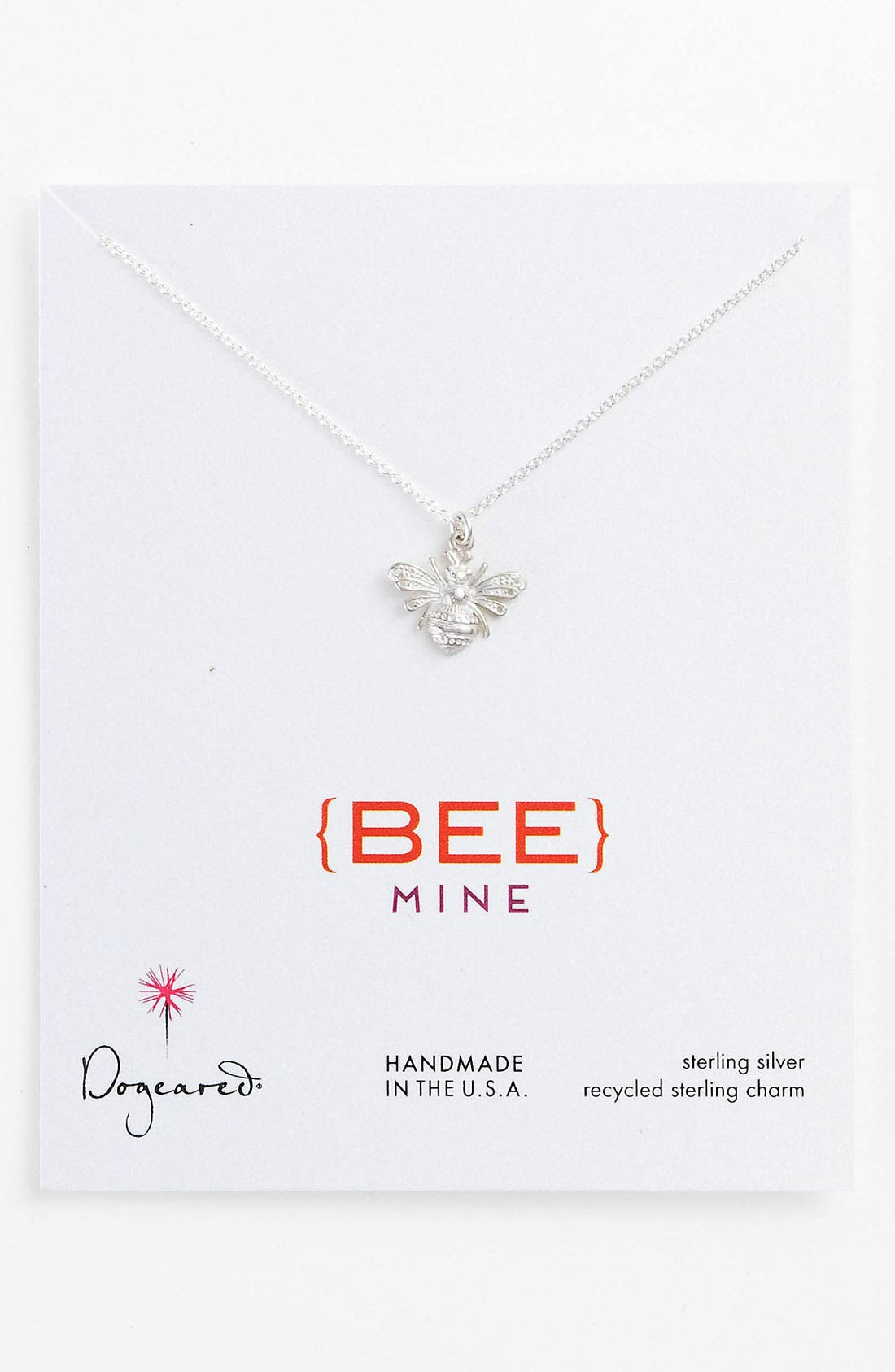 Alternate Image 1 Selected - Dogeared 'Love - Bee Mine' Pendant Necklace