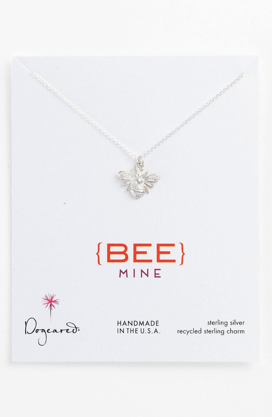 Main Image - Dogeared 'Love - Bee Mine' Pendant Necklace