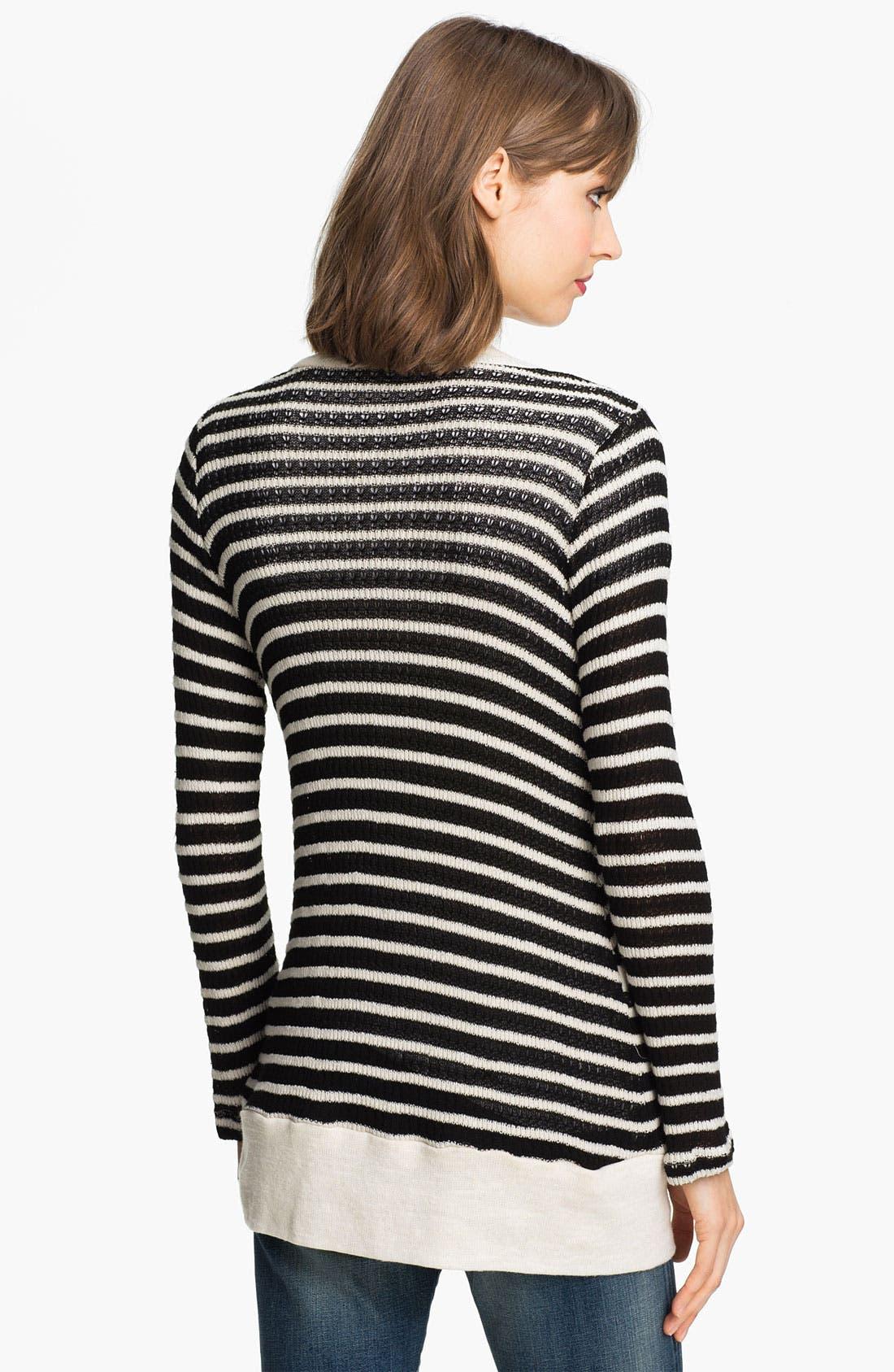 Alternate Image 2  - Splendid 'Panama' Stripe Oversized Cardigan