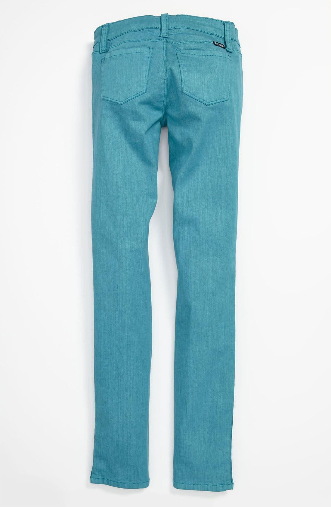 Alternate Image 1 Selected - Tractr Coated Denim Skinny Leg Jeans (Big Girls)
