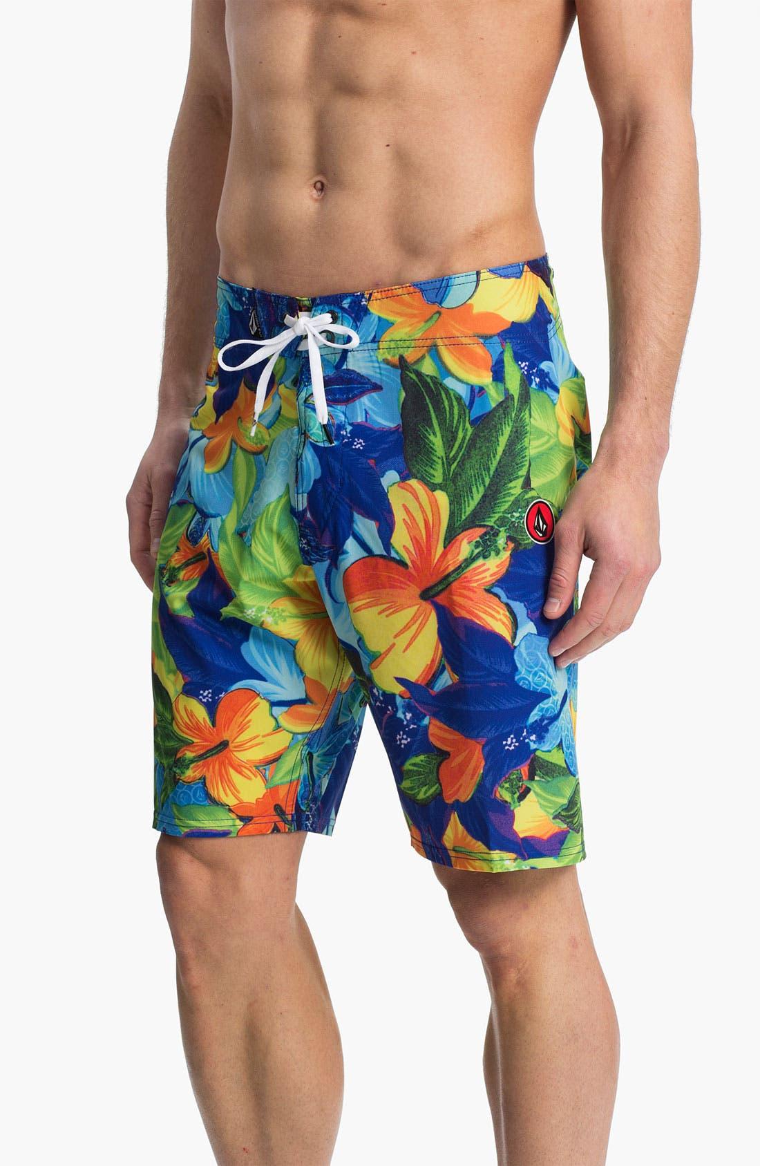 Main Image - Volcom 'Floral Fun' Board Shorts