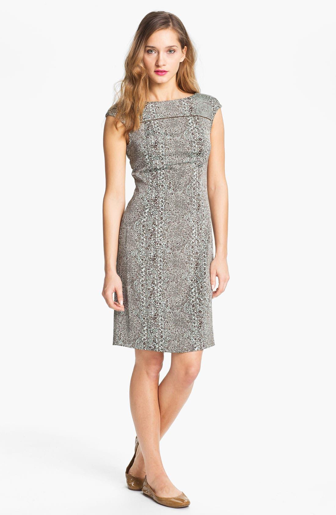 Alternate Image 1 Selected - Tory Burch 'Carter' Print Sheath Dress