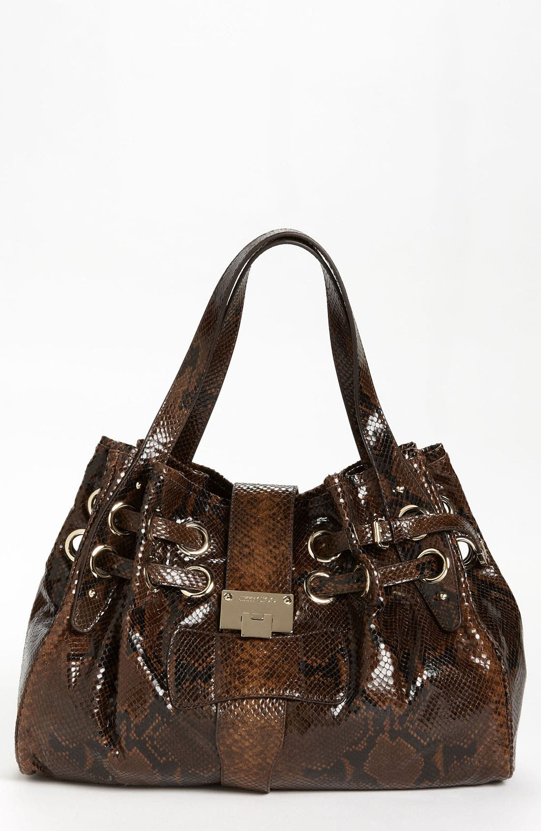 Main Image - Jimmy Choo 'Ramona' Snake Embossed Leather Shopper, Large