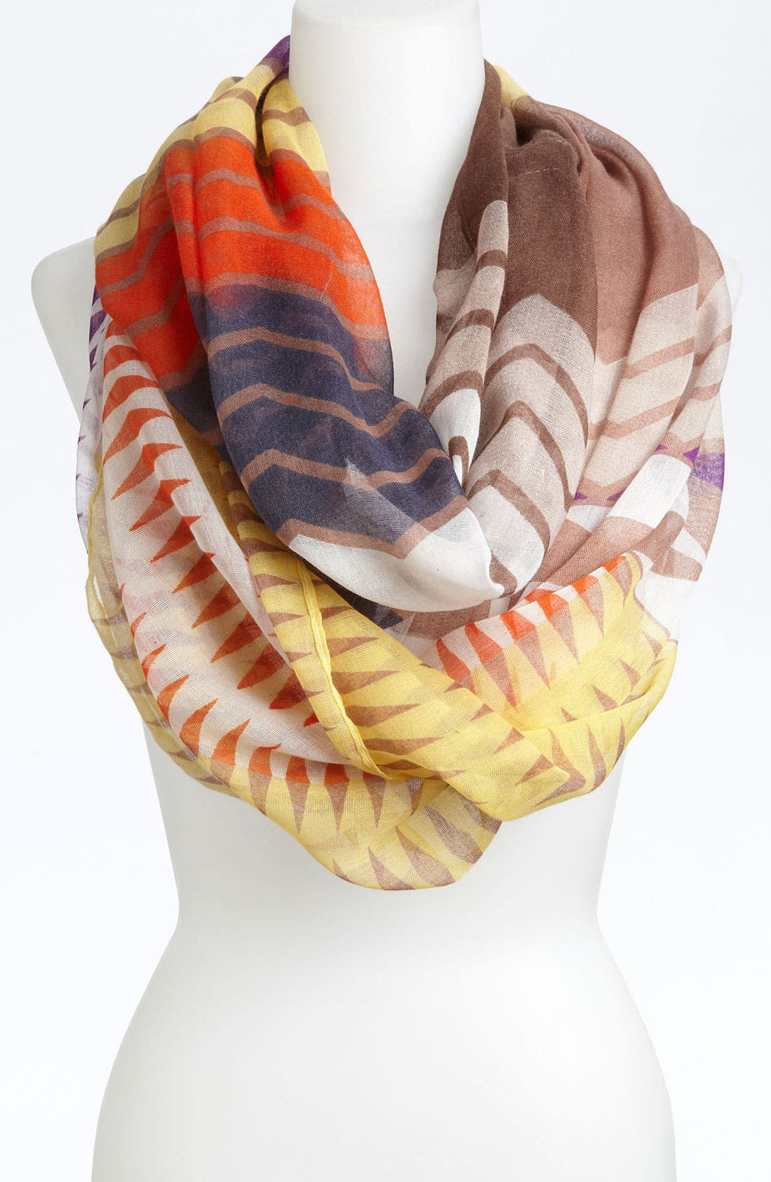 Alternate Image 1 Selected - David & Young Zigzag Mix Print Scarf