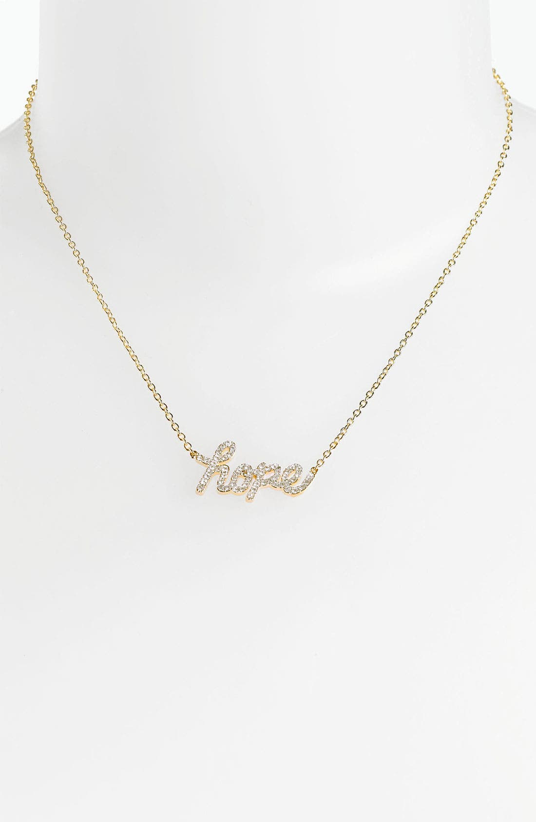Alternate Image 1 Selected - Ariella Collection 'Messages - Hope' Script Pendant Necklace