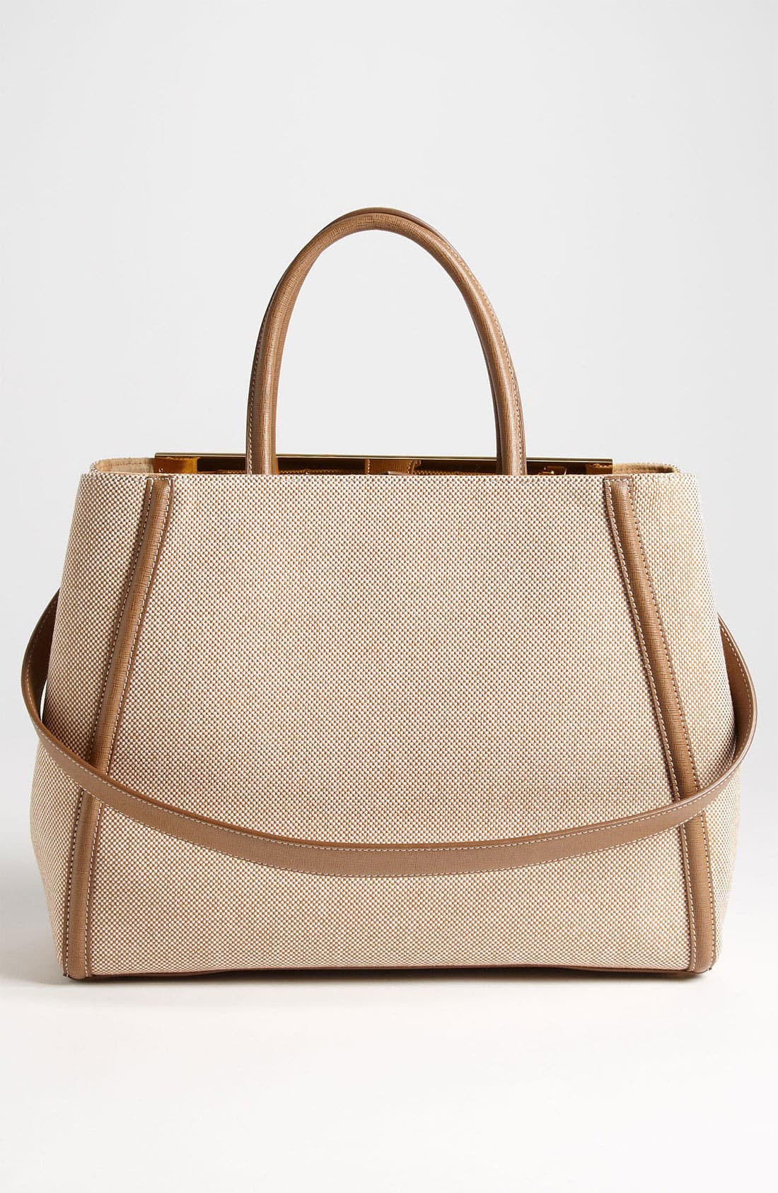 Alternate Image 4  - Fendi '2Jours - Medium' Canvas Shopper
