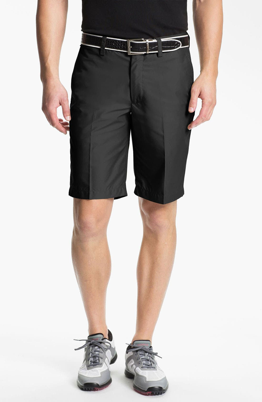 Main Image - J. Lindeberg 'True' Flat Front Micro Twill Shorts (Online Only)