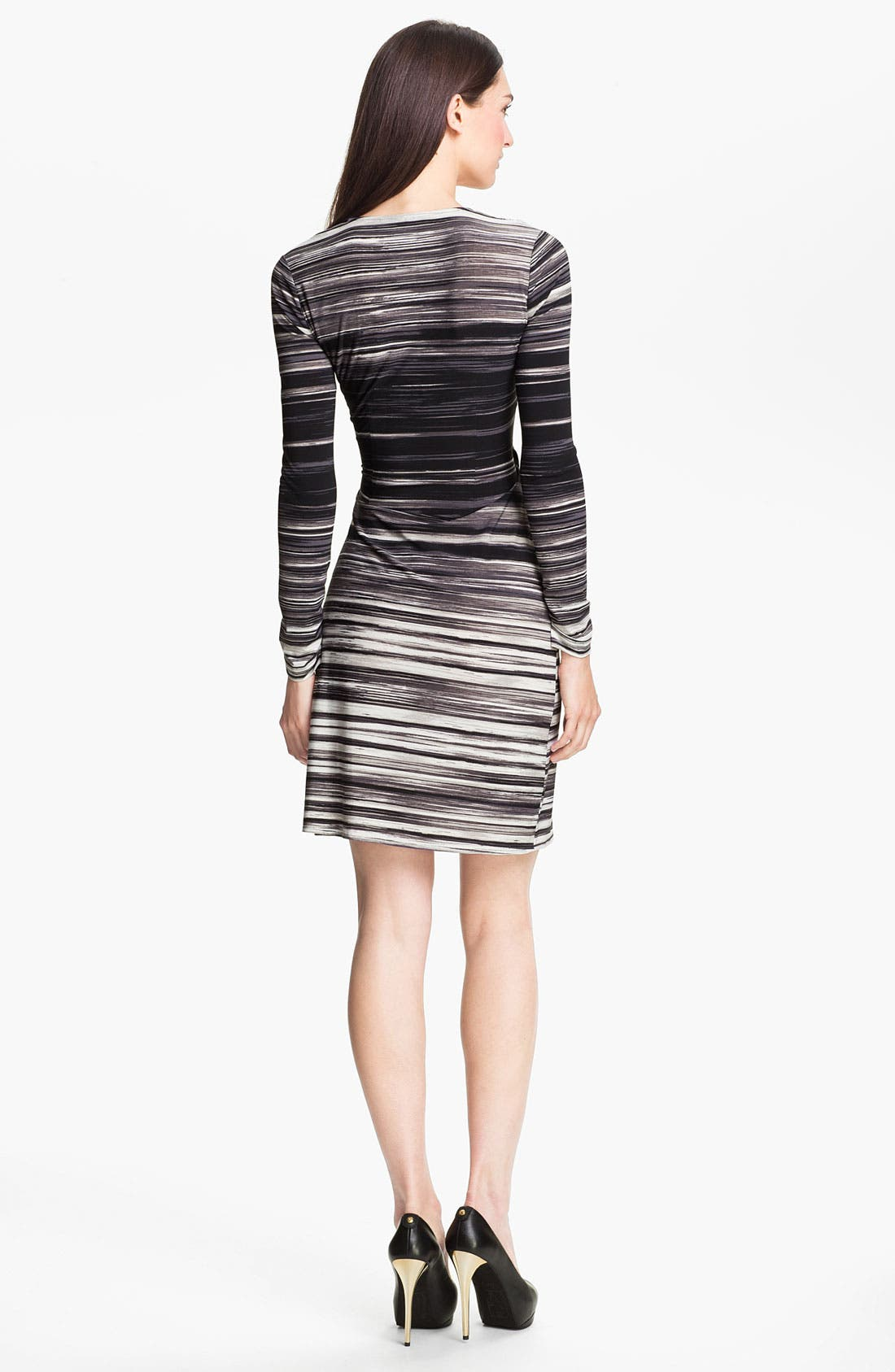 Alternate Image 2  - BCBGMAXAZRIA Stripe Jersey Wrap Dress