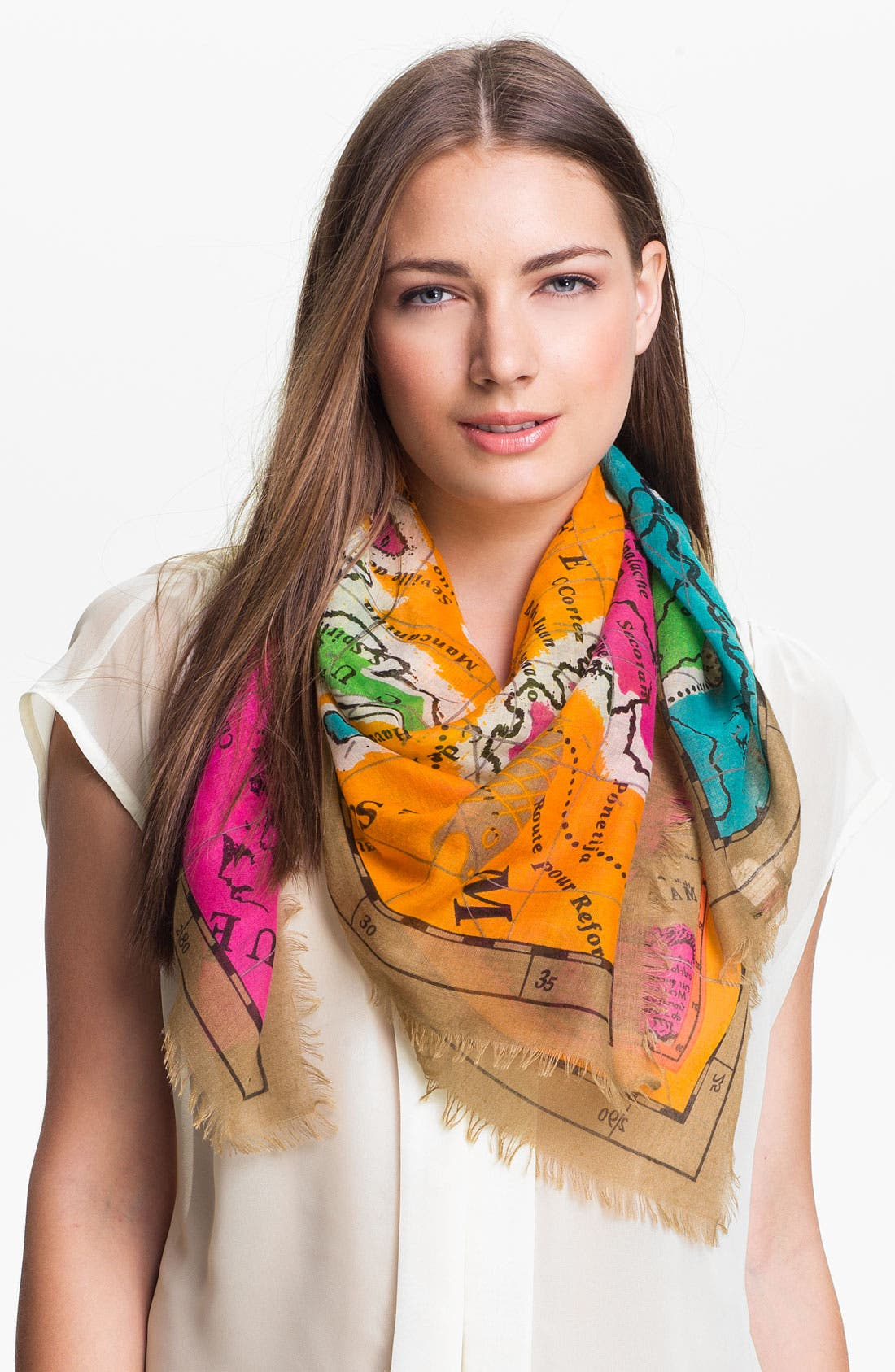 Main Image - Echo 'Map of Mexico' Oversized Scarf