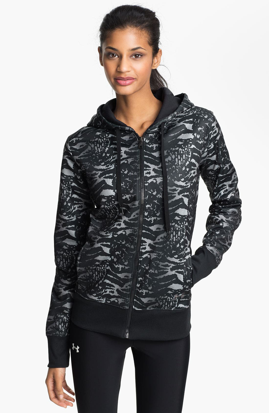 Alternate Image 1 Selected - Under Armour 'Armour Fleece®' Graphic Zip Up Hoodie