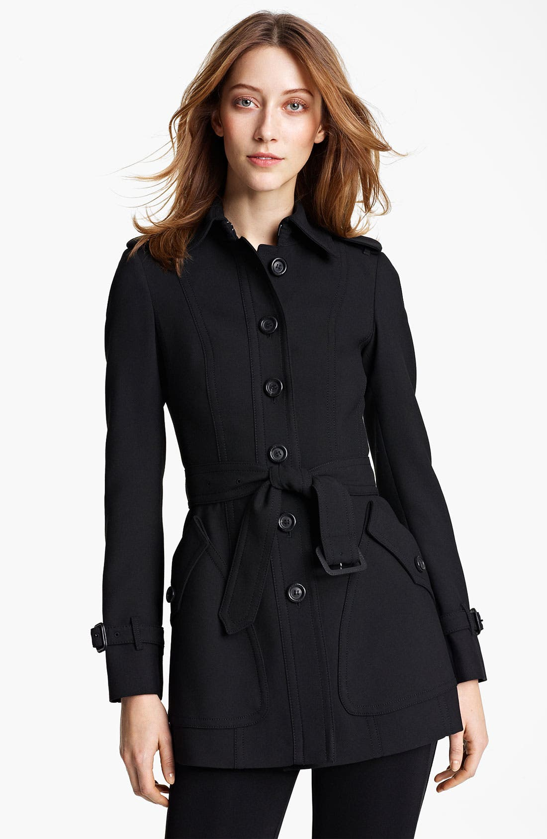 Alternate Image 1 Selected - Burberry London Jersey Trench Coat