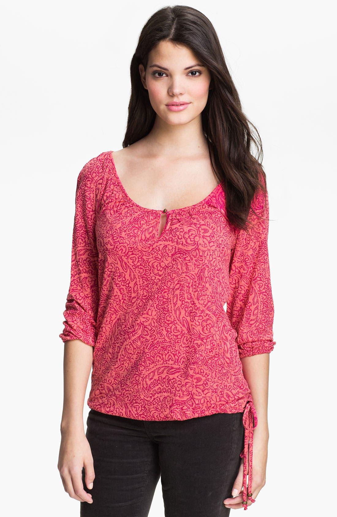 Alternate Image 1 Selected - Lucky Brand 'Tilly' Paisley Top