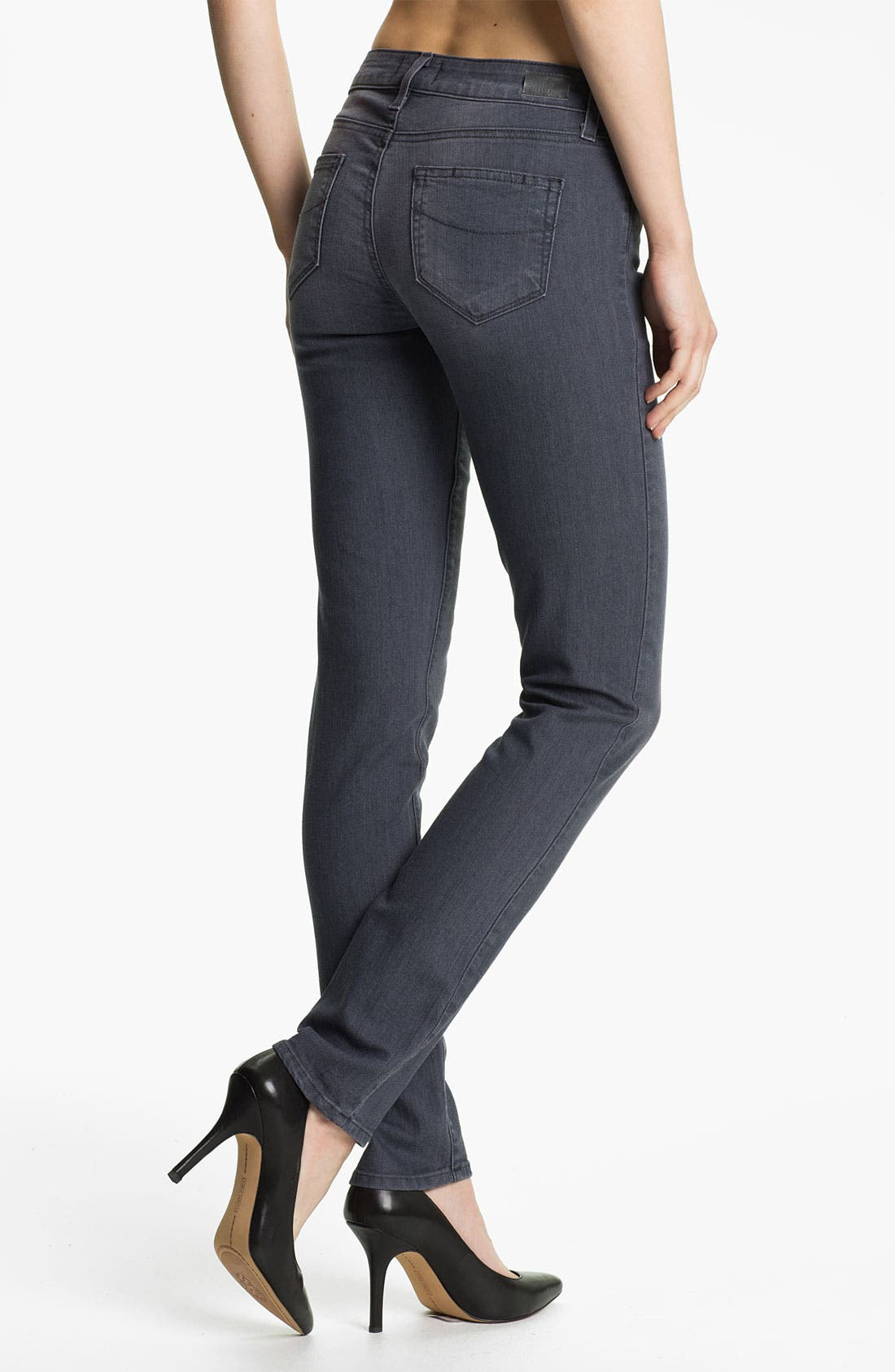 Alternate Image 2  - Paige Denim 'Skyline' Skinny Stretch Jeans (Granite)
