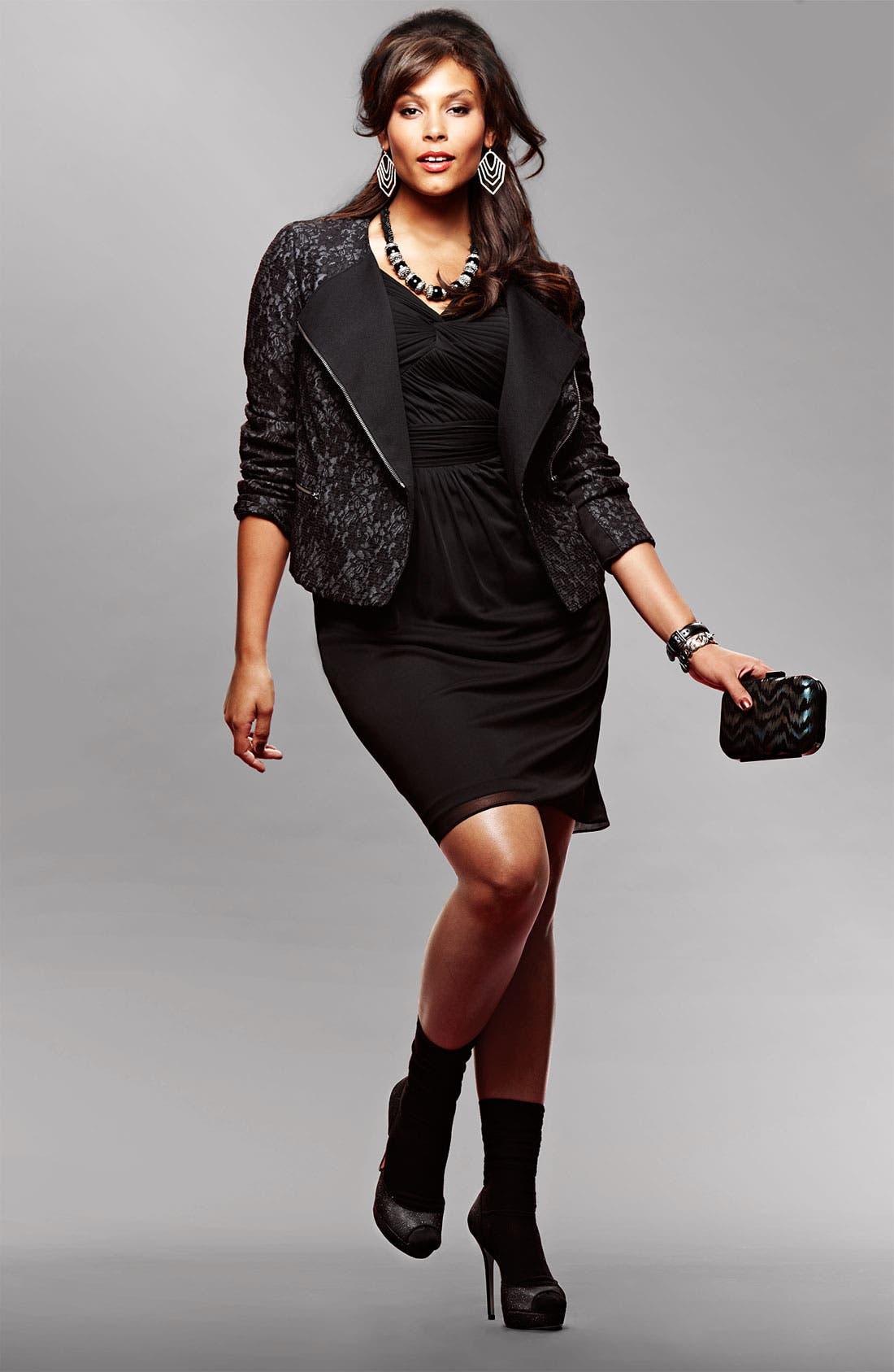 Alternate Image 1 Selected - Adrianna Papell Dress & DKNYC Jacket