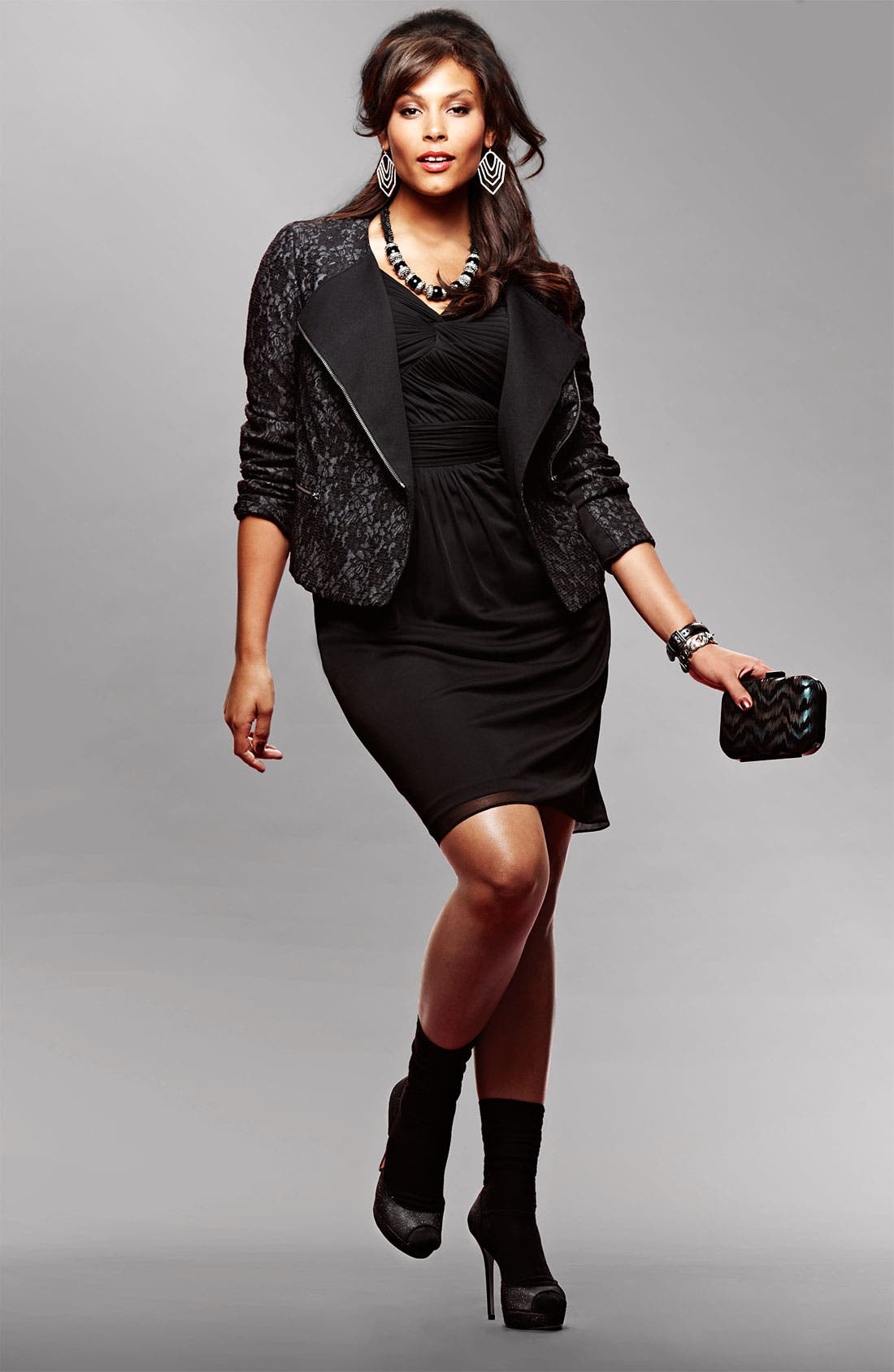 Main Image - Adrianna Papell Dress & DKNYC Jacket