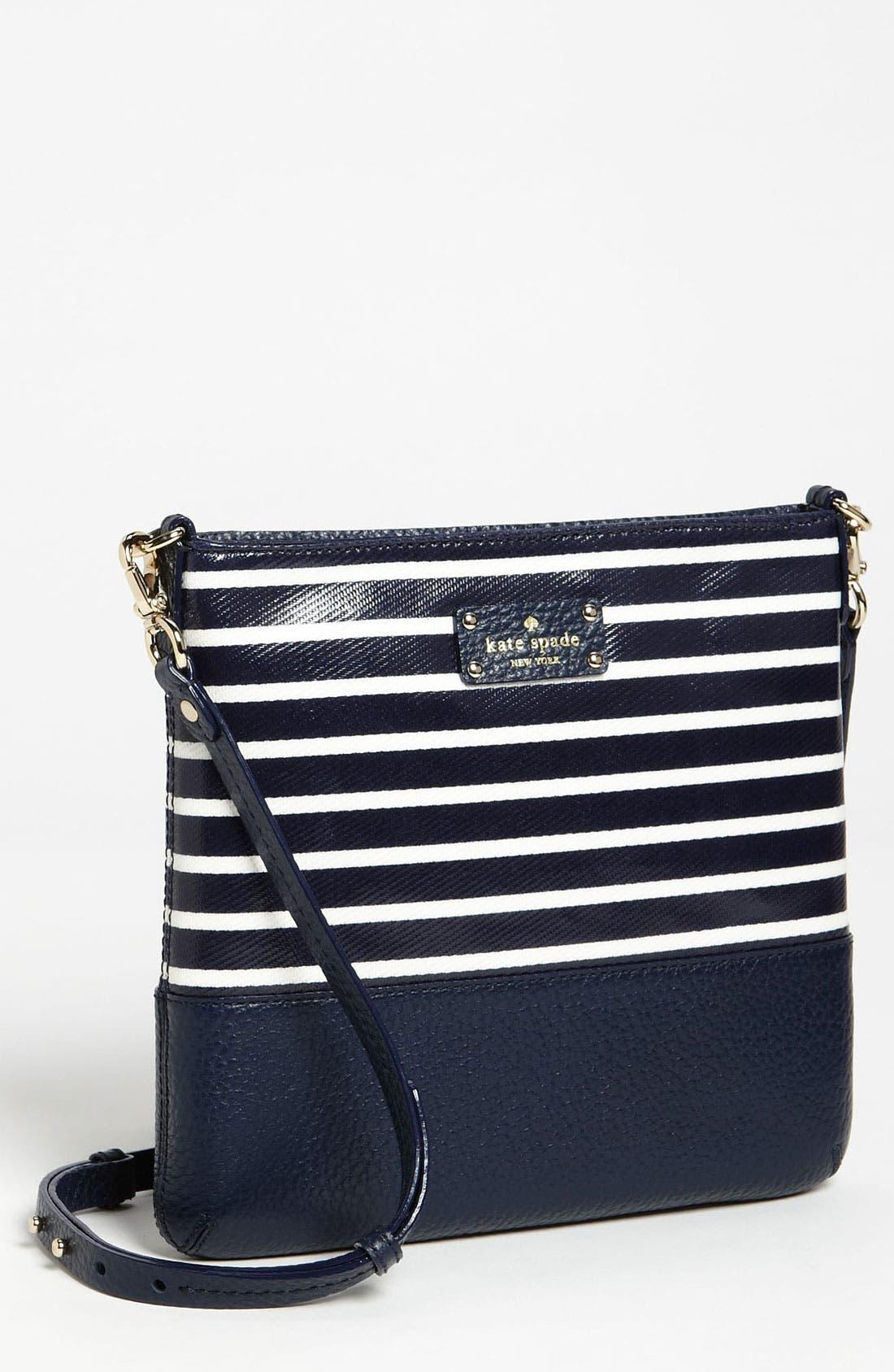 Main Image - kate spade new york 'grove court stripe - cora' crossbody bag