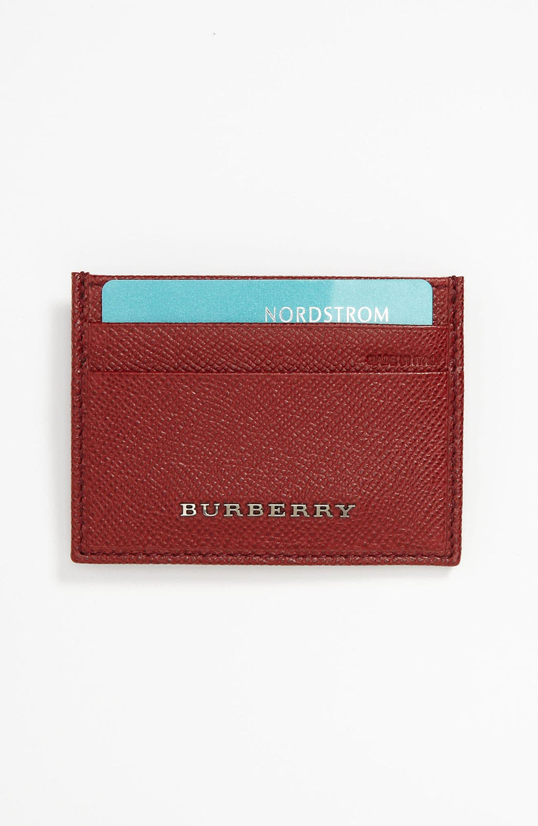 Alternate Image 1 Selected - Burberry Calfskin Card Case