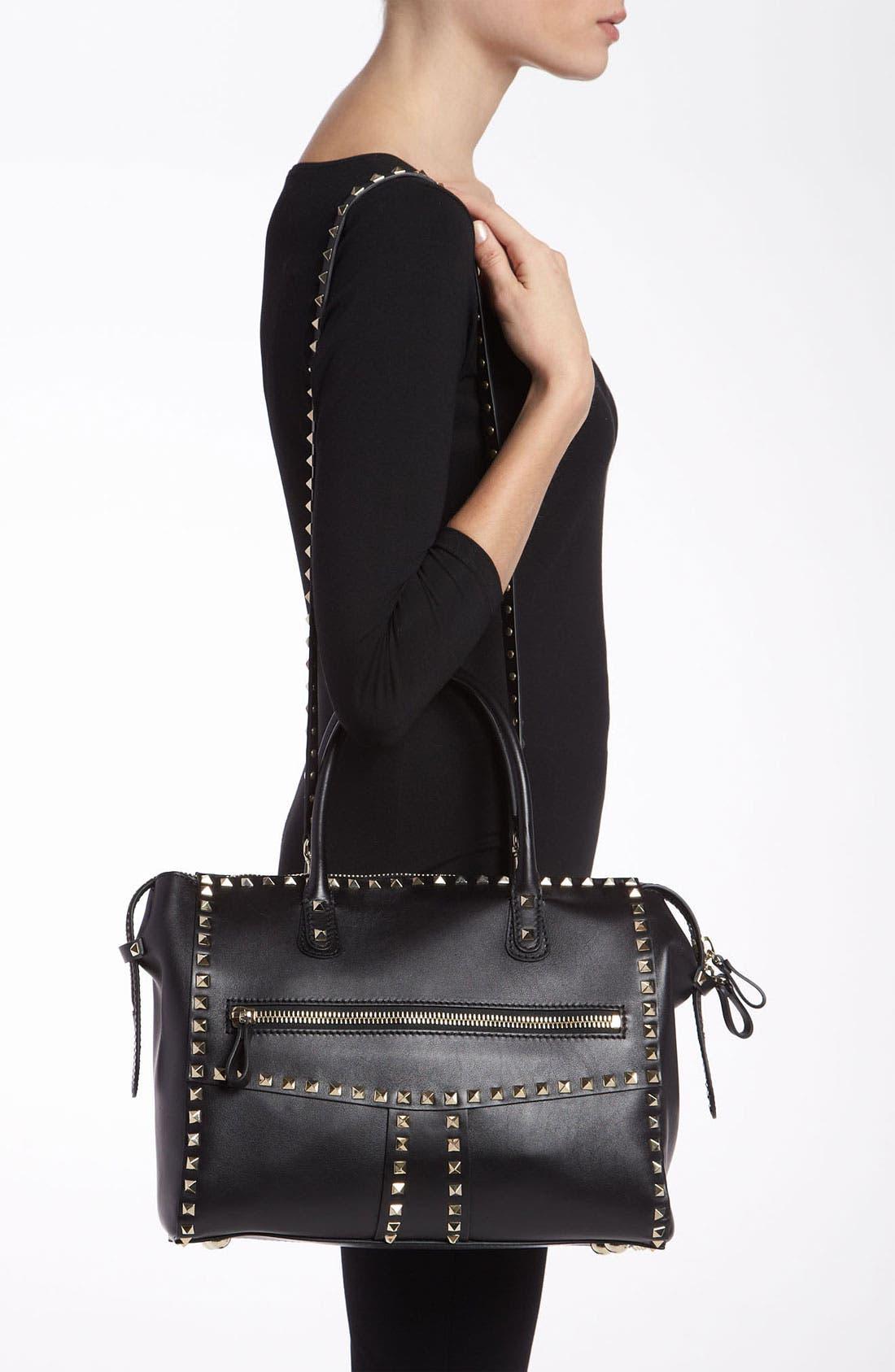 Alternate Image 2  - Valentino 'Rockstud - Small' Leather Handbag