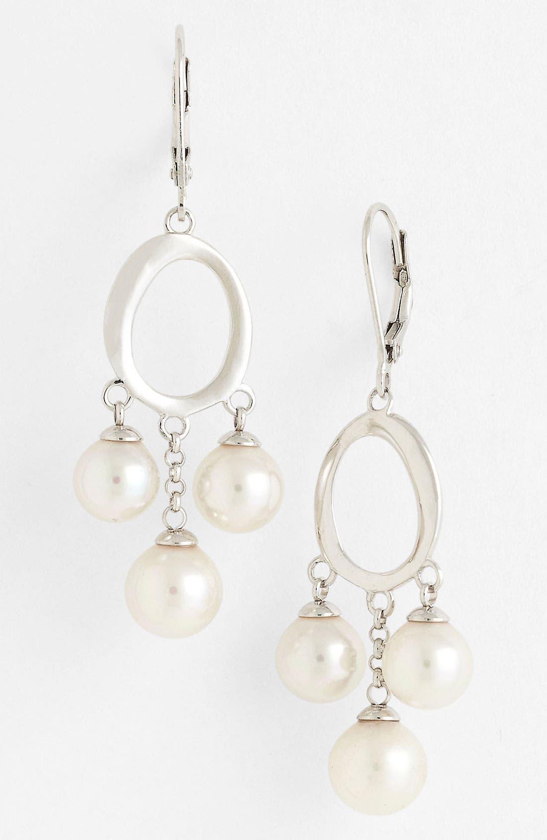 Main Image - Majorica Pearl Chandelier Earrings