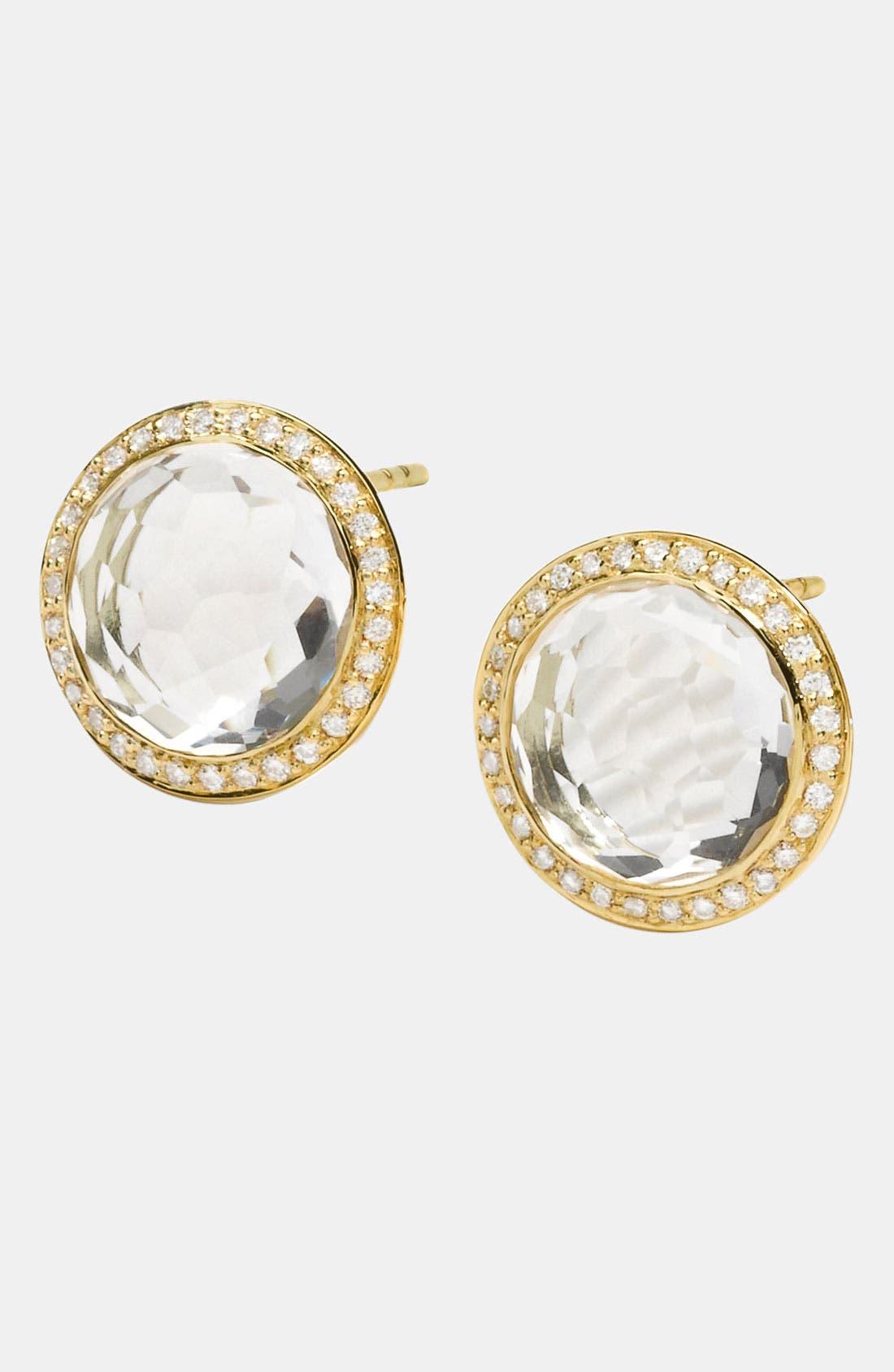 Alternate Image 1 Selected - Ippolita 'Lollipop' Diamond & 18k Gold Earrings