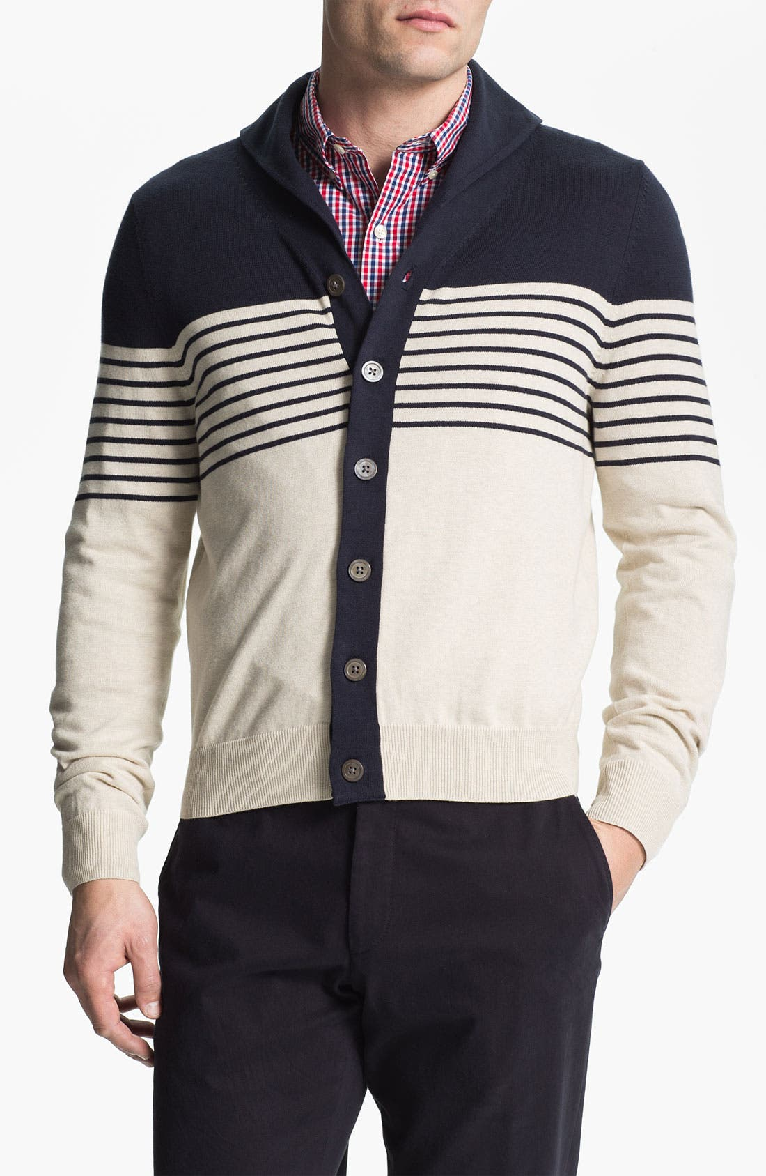 Alternate Image 1 Selected - Brooks Brothers Shawl Collar Cardigan