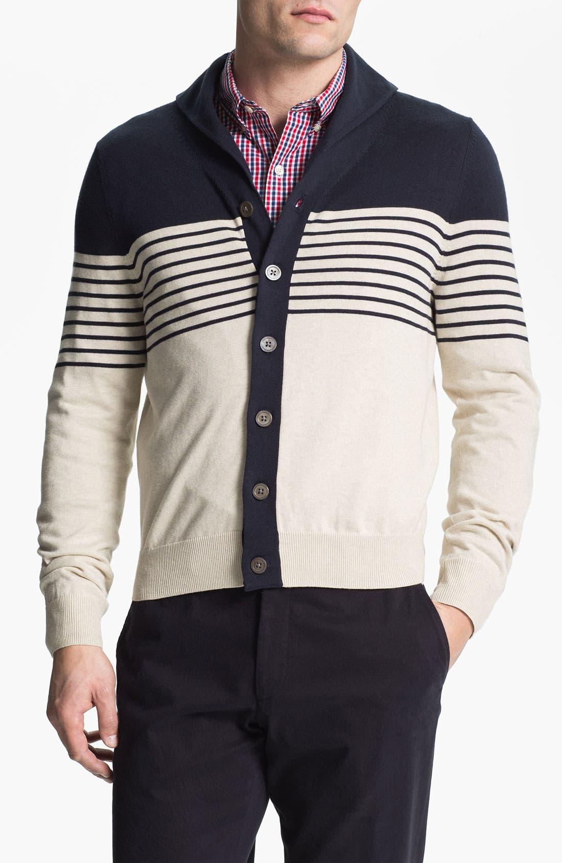Alternate Image 1 Selected - Brooks Brothers Shawl Collar Cardigan
