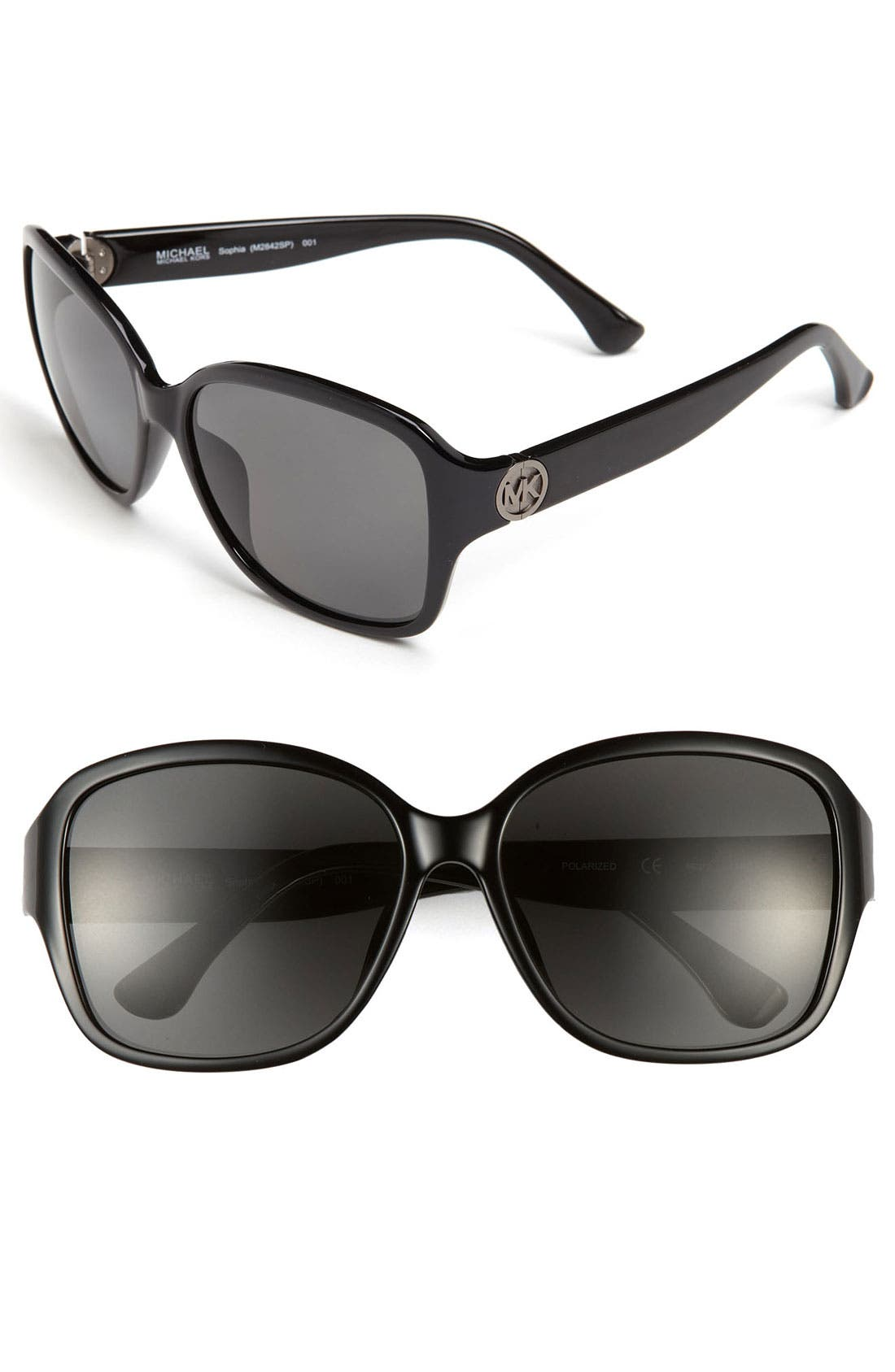 Main Image - MICHAEL Michael Kors 'Sophia' 58mm Polarized Sunglasses