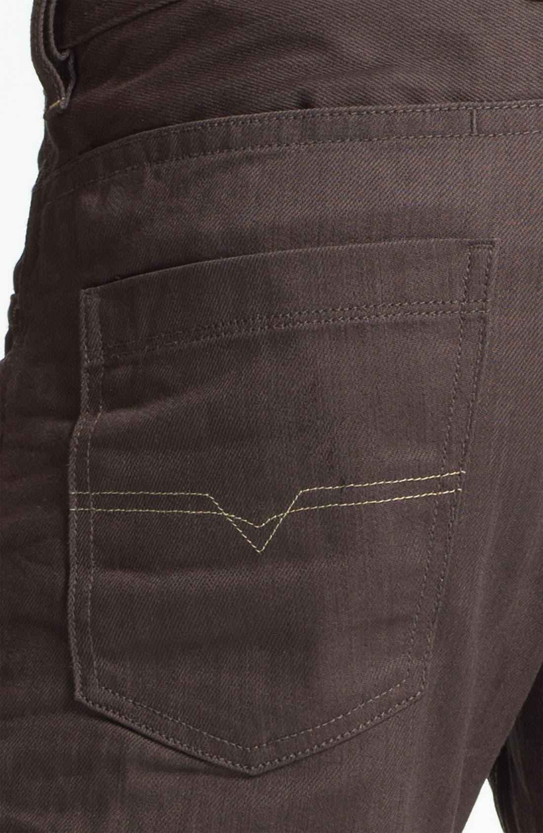 Alternate Image 4  - DIESEL® 'Braddom' Slim Tapered Leg Jeans (Deep Black)