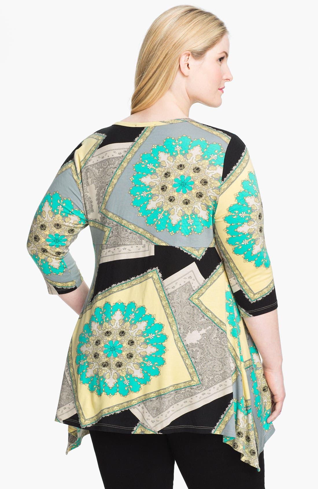 Alternate Image 2  - Karen Kane Handkerchief Tunic (Plus)
