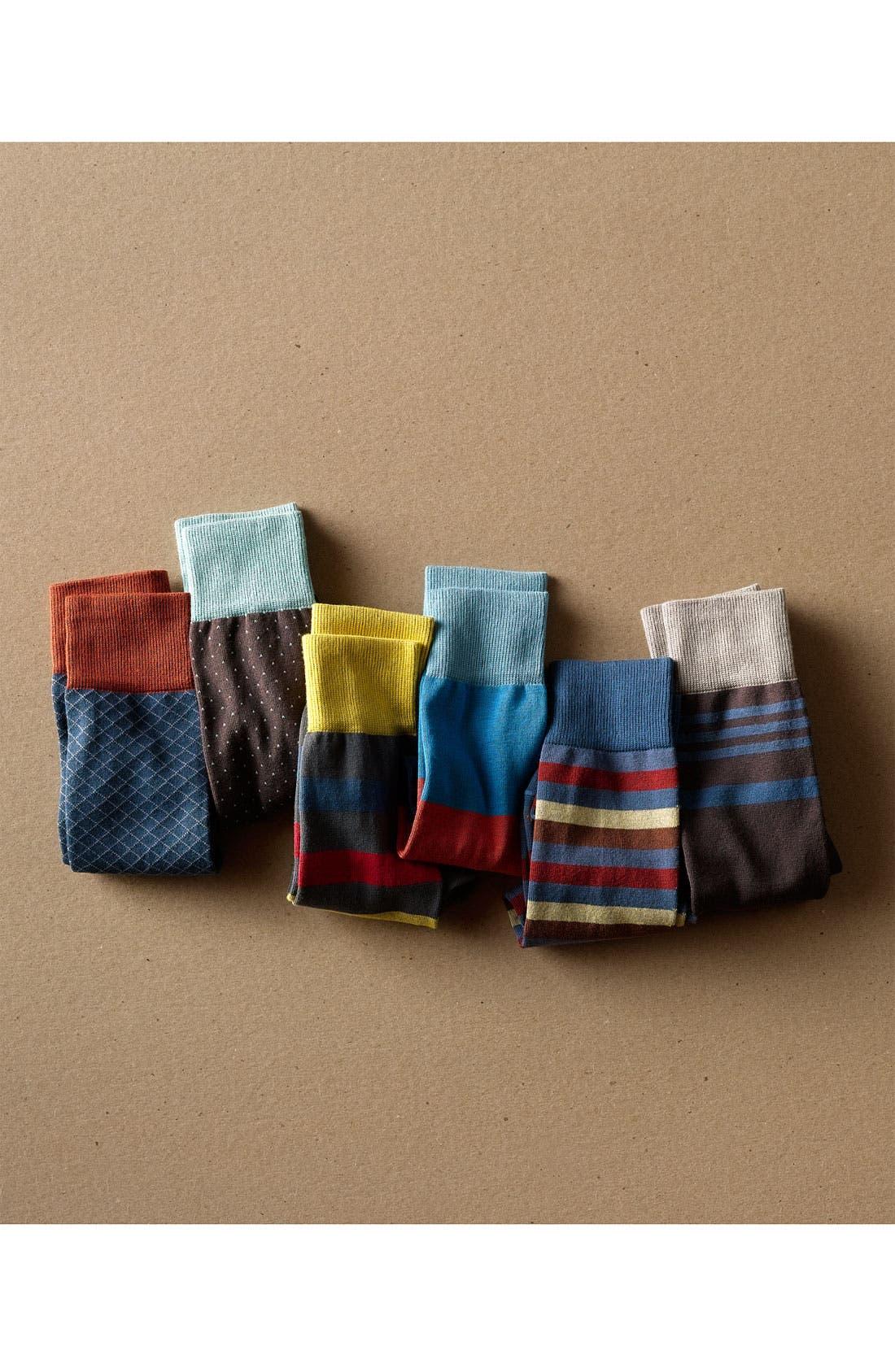 Alternate Image 3  - hook + ALBERT Stripe Socks