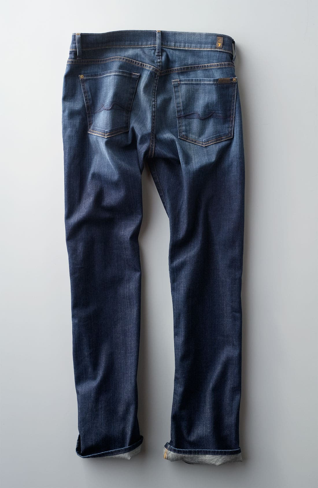 Alternate Image 5  - 7 For All Mankind® 'Standard' Straight Leg Jeans (Worn L.A. Dark)