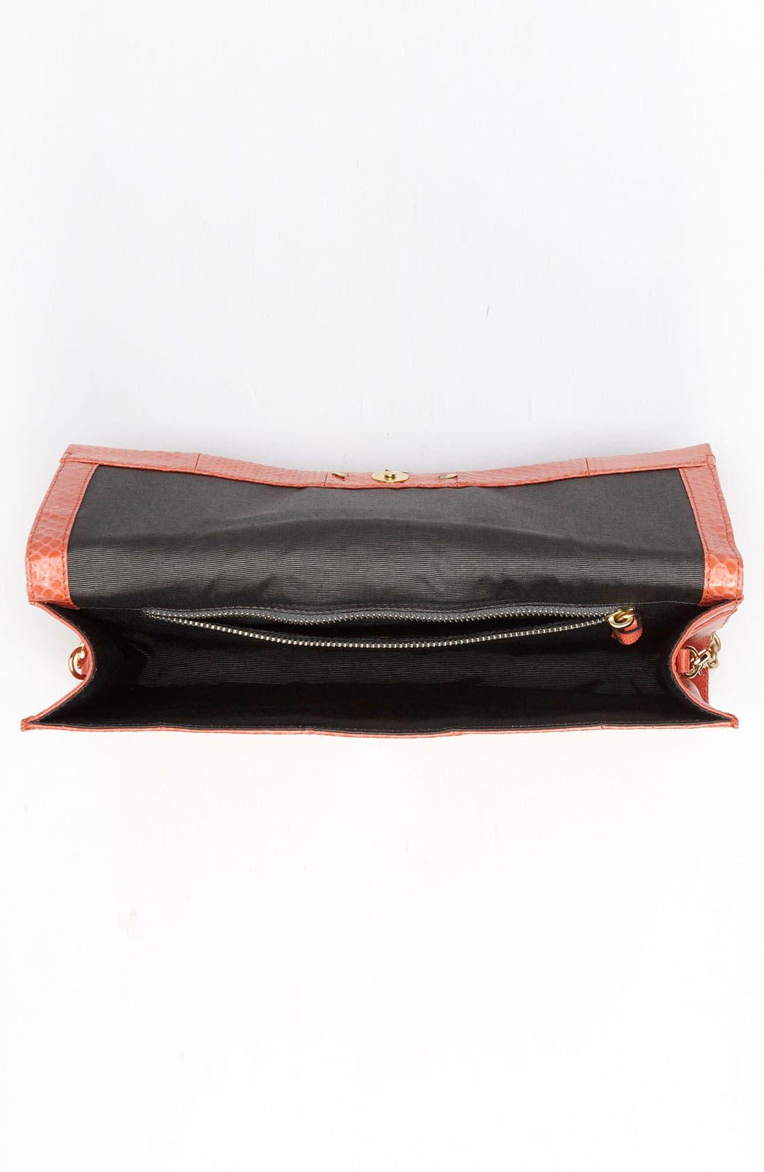 Alternate Image 3  - Diane von Furstenberg 'Carolina Lips' Leather & Genuine Snakeskin Clutch