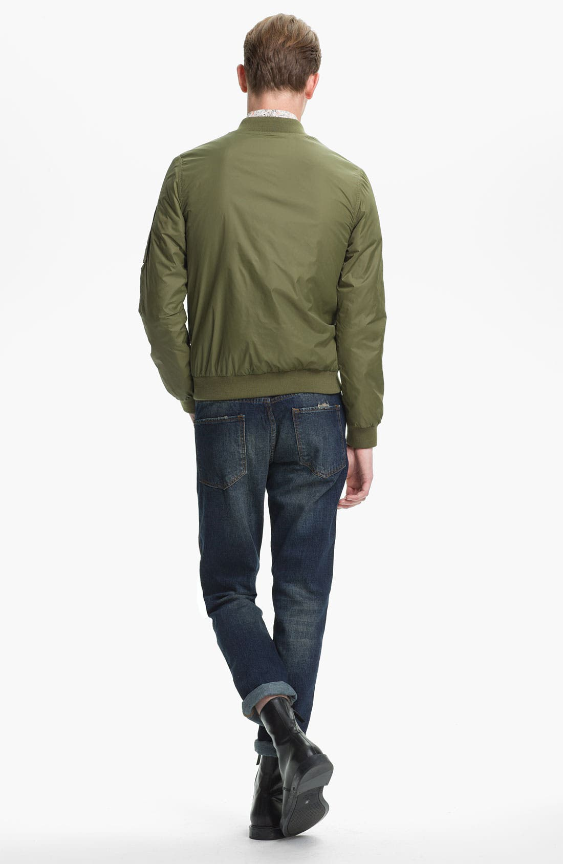 Alternate Image 6  - Topman Slim Fit Jeans (Indigo)