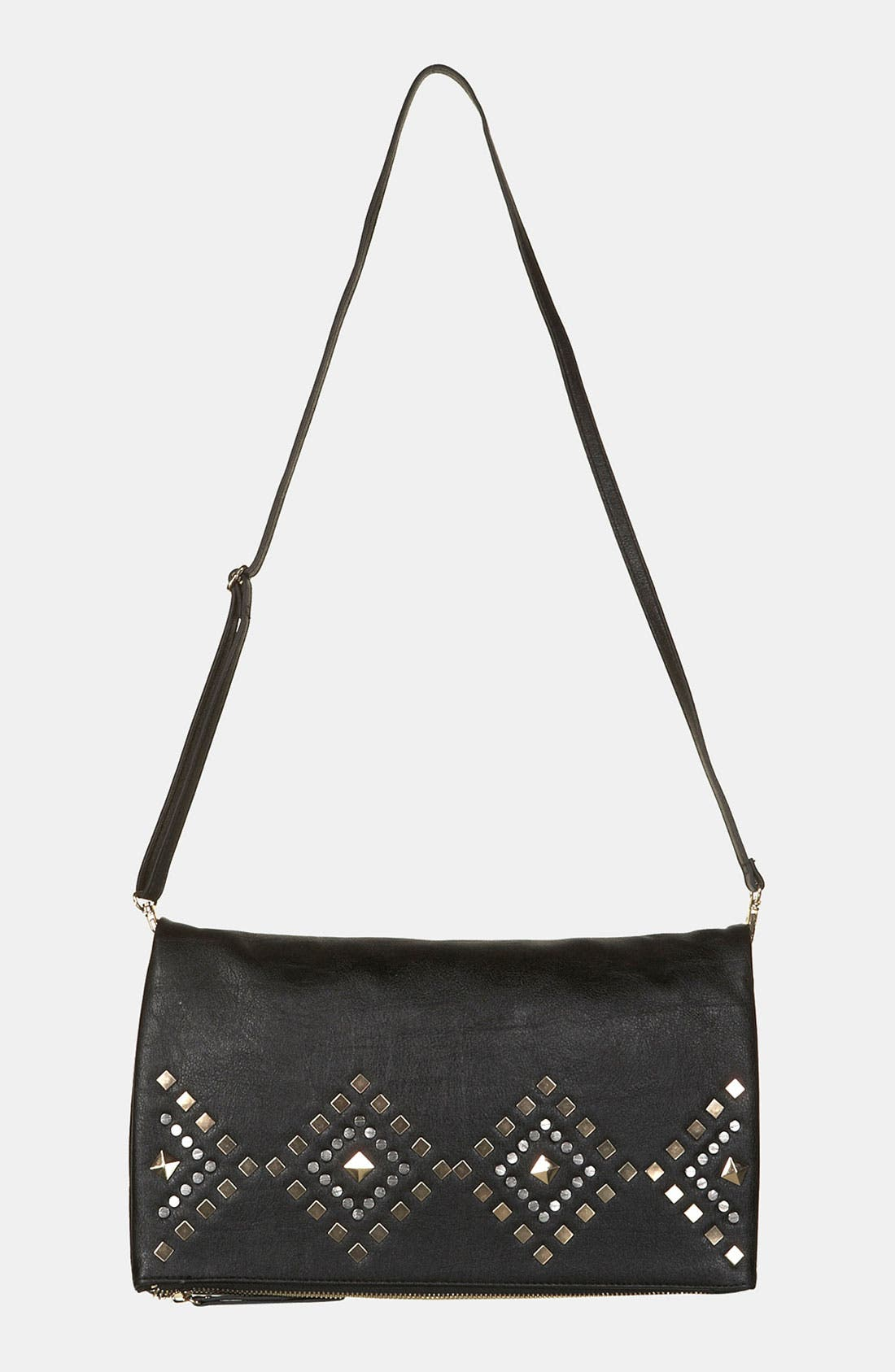 Alternate Image 2  - Topshop Geometric Stud Clutch