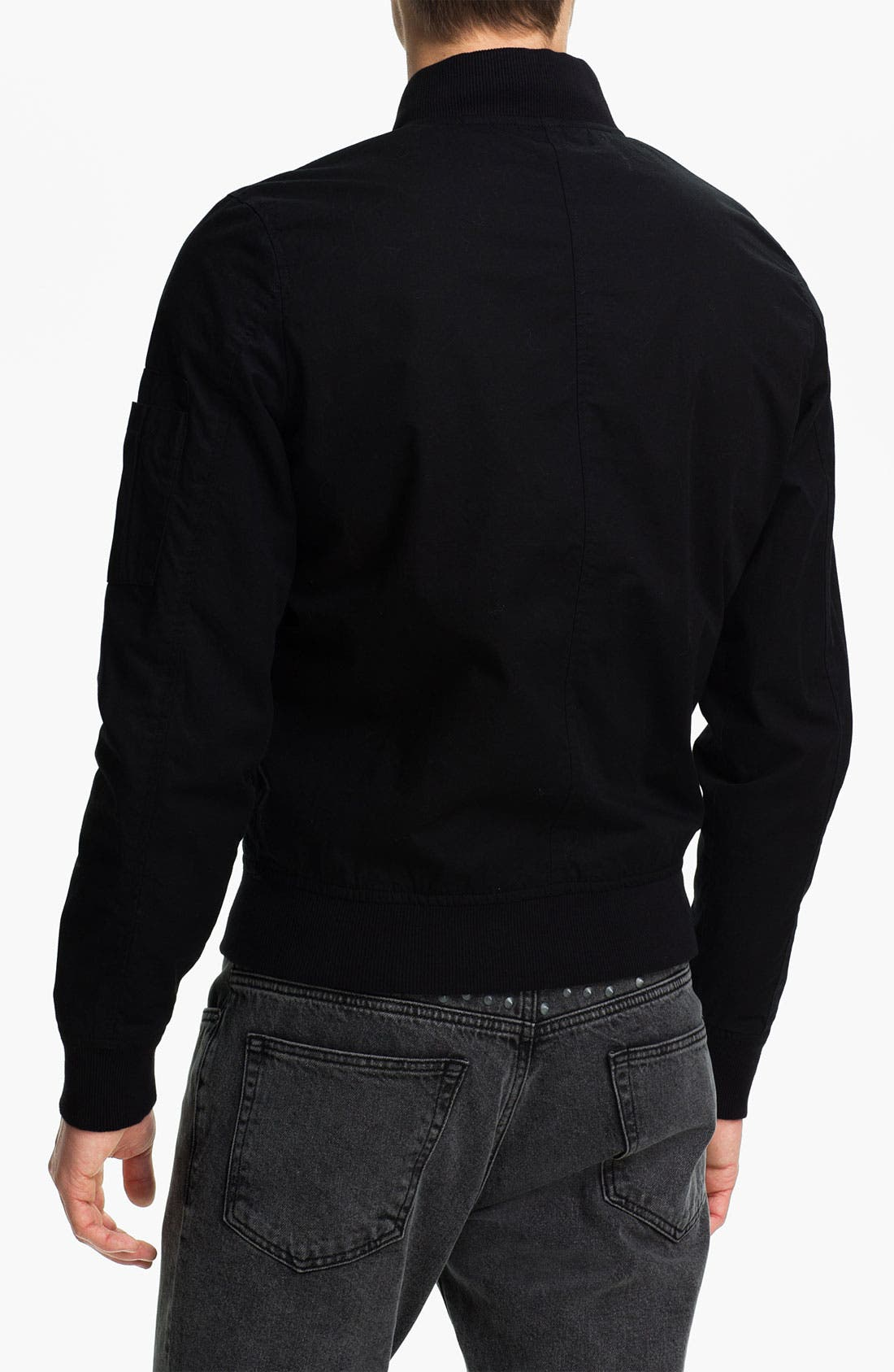 Alternate Image 2  - Topman Cotton Bomber Jacket