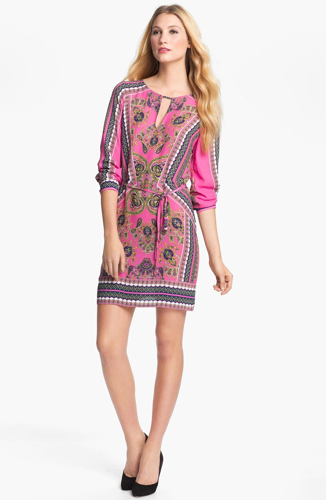 Alternate Image 1 Selected - BCBGMAXAZRIA 'Freya' Woven Shift Dress
