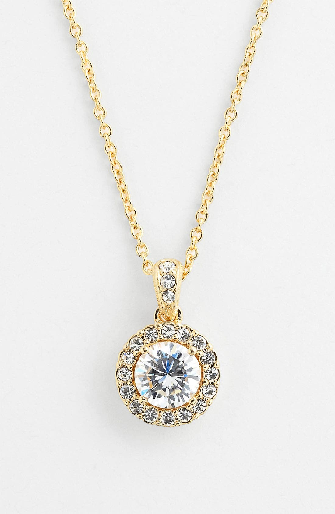 Alternate Image 1 Selected - Nadri Framed Round Cubic Zirconia Boxed Necklace (Nordstrom Exclusive)
