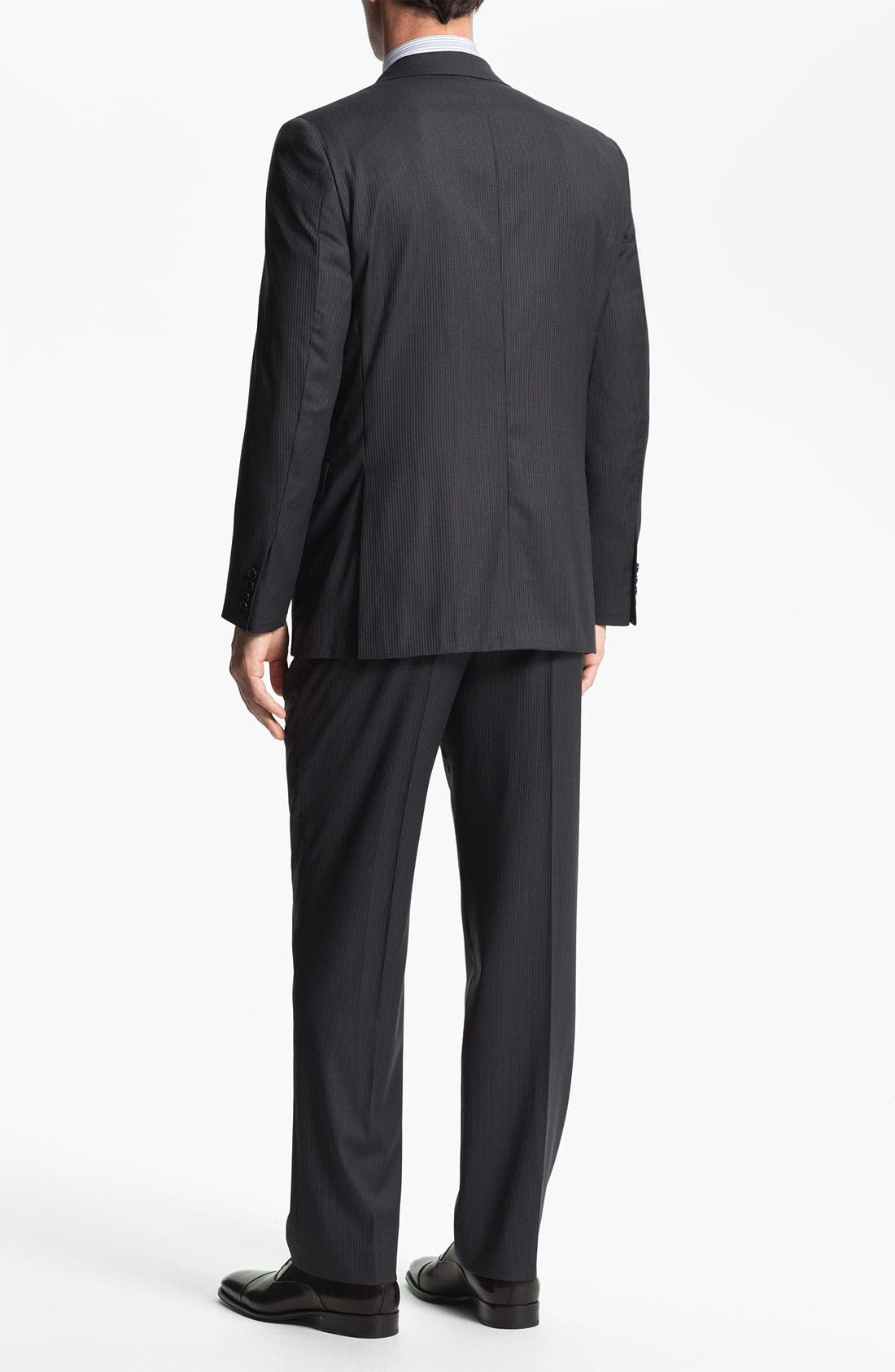Alternate Image 3  - Hickey Freeman 'Beacon' Stripe Wool Suit