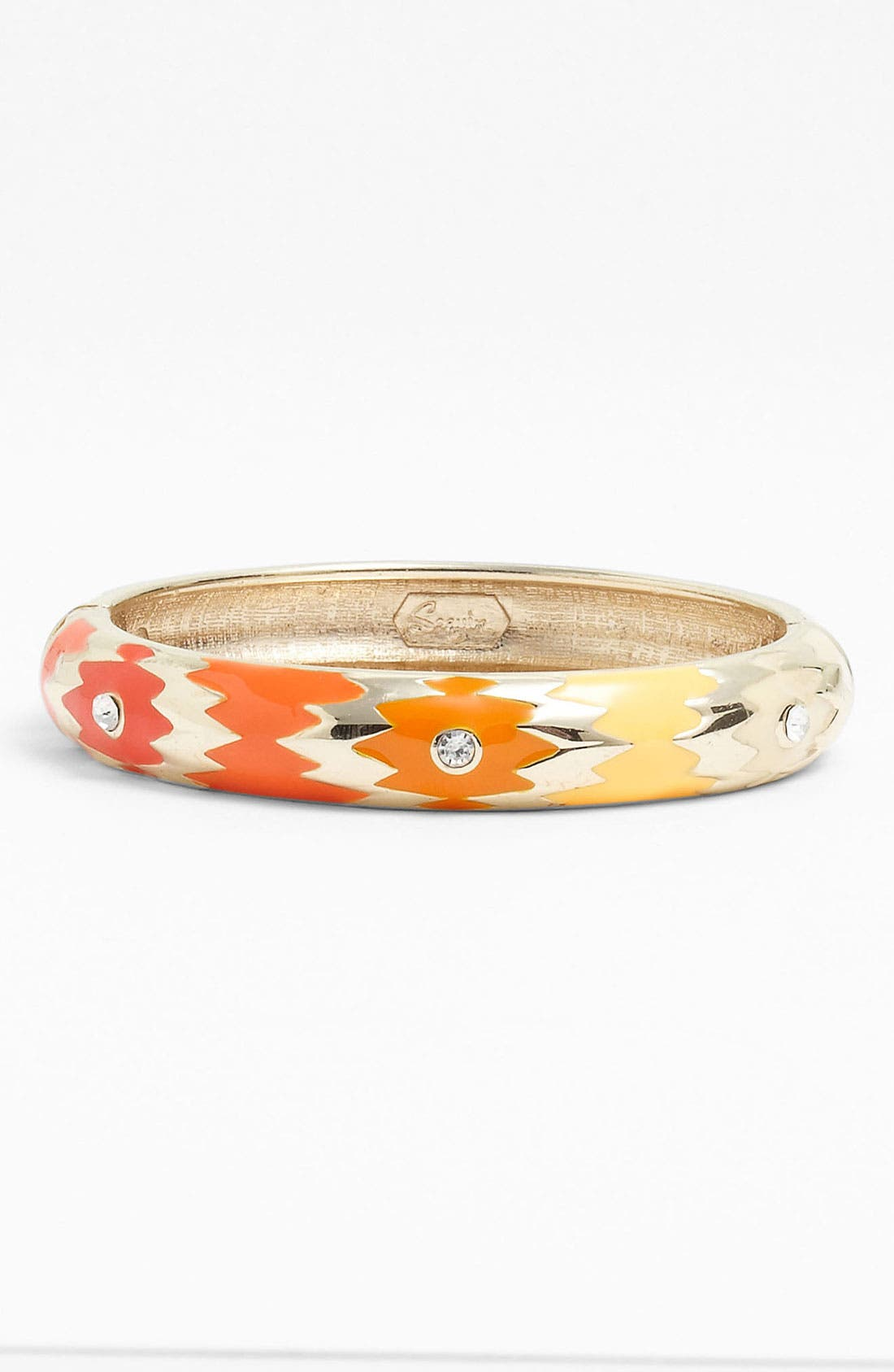 Alternate Image 1 Selected - Sequin Ombré Hinged Bangle