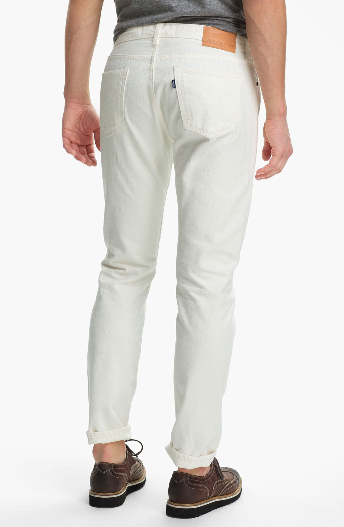 Alternate Image 2  - Levi's® Made & Crafted™ Slim Fit Jeans (White)