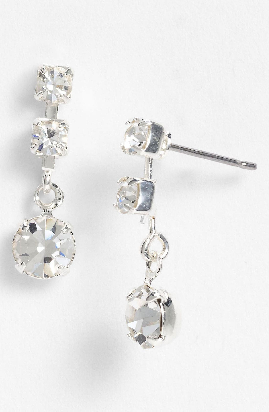 Alternate Image 1 Selected - Rosa Crystal Collection Jewelry Linear Earrings