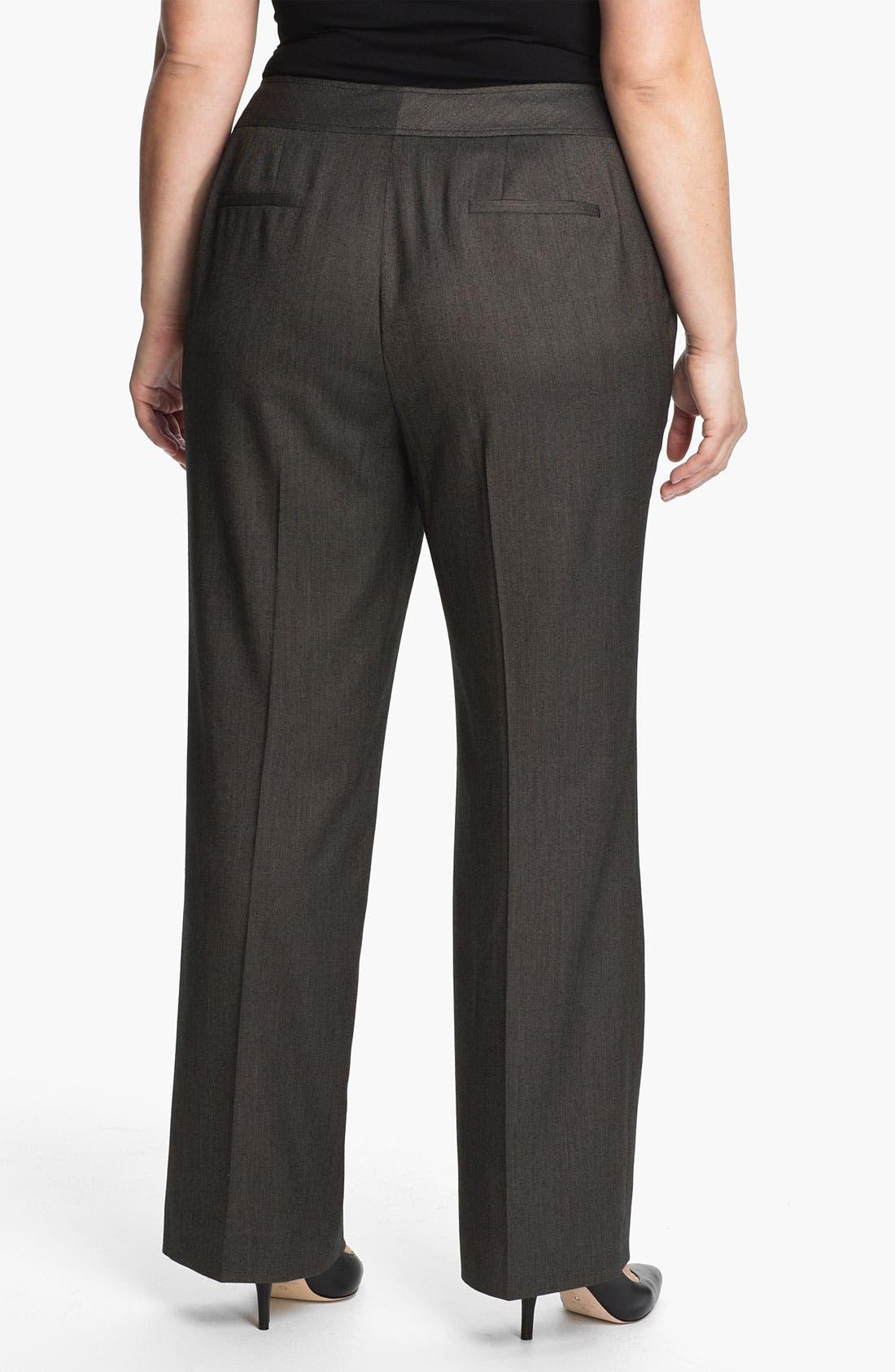 Alternate Image 2  - Sejour 'Bureau' Curvy Fit Trousers (Plus)